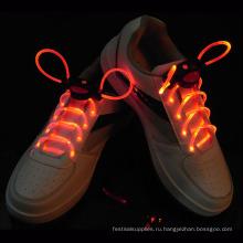Свет свечение мигающий светодиодный шнурки platube