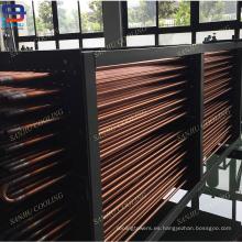 Bobinas de intercambiador de calor de tubo de cobre para torres de enfriamiento