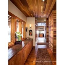 Eco-Содружественный деревянный дом с Красного кедра деревянный брус.