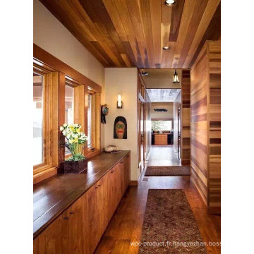 Maison en bois écologique avec bois de cèdre rouge.