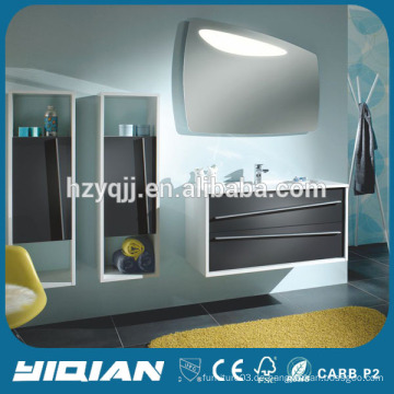 Euro Style Wandbehang Badmöbel Künstliche Stein Waschbecken Waschbecken Möbel Moderne MDF Möbel Badezimmer