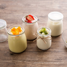 Wholesale Lead Free Glass Pudding Cup Thickened Milk Cup High Temperature Resistant Acid Bottle Cork Wholesale Can Be Customized