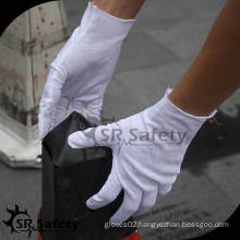 SRSAFETY white cotton lisle inspection glove