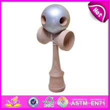 Juguete de madera divertido Kendama, juguete popular de Kendama de madera, el último juguete de madera Kendama, juguete de madera de Kendama con 18.5 * 6 * 6.8cm W01A024
