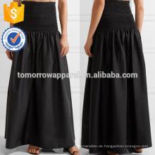 New Fashion Smocked Stretch-Popeline Maxirock DEM / DOM Herstellung Großhandel Mode Frauen Bekleidung (TA5147S)