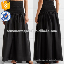 New Fashion Smocked Stretch-poplin Maxi Skirt DEM/DOM Manufacture Wholesale Fashion Women Apparel (TA5147S)