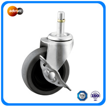 Swivel TPR Caster with Side Brake