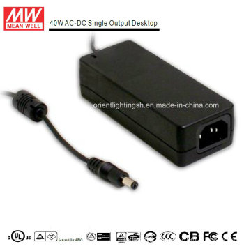 Mean Well 40W AC-DC Desktop Power Supply