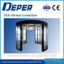 DPER automatic curved sliding glass door