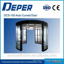 Porta deslizante de vidro curvada automática DPER