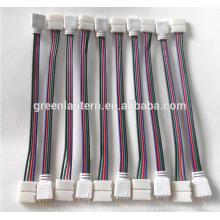 Cabo de fio do conector do RGB 4PIN para a tira do diodo emissor de luz de 3528 5050 SMD Masculino & fêmea