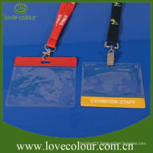 Transparent plastic soft ID card holder