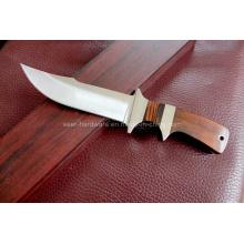 Couteau fixe à poignée en bois (SE-A09)