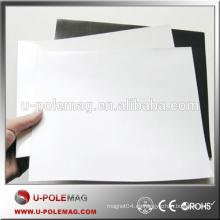 Imán de caucho flexible isotrópico con PVC blanco