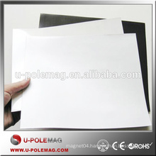 Isotropic flexible rubber magnet with White PVC