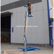 ascenseur de travail d'un homme en aluminium mobile