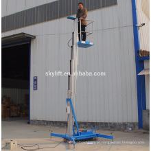 elevador de trabalho móvel de um homem de alumínio