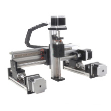 100-1000mm stroke nema23 stepper motorized drive gantry type xyz linear stage for printer