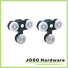 Sistema de rolo de porta deslizante de vidro Frameless com trilho de alumínio (BA5001A)