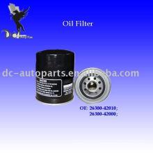 Filtro de aceite de Hyundai y filtro de aceite de Brono y filtro de aceite de Ford 26300-42000