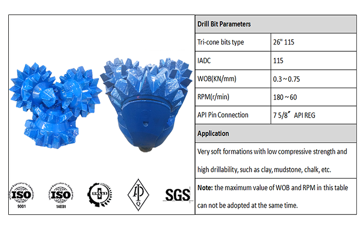 High Quality Rollier Cone Bits