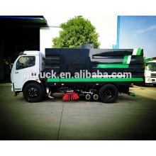 Caminhão da vassoura de estrada de 5cbm 4X2 Dongfeng com tanque da poeira, tanque de água, tanque da sução