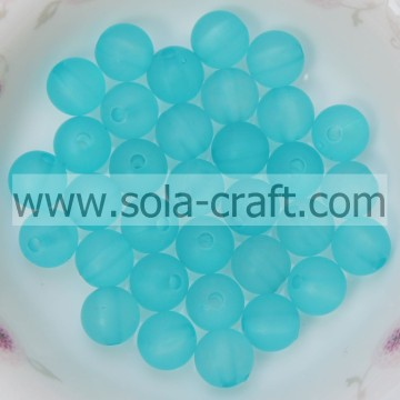 Popular 8MM Attractive Sky Blue Factory Price Plastic Shinny Acrylic Clear Matte Beads