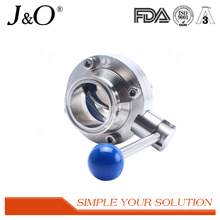 Sanitary Clamp Butterfly Valve with Stainless Steel Pull Hand