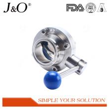 Válvula de borboleta sanitária com válvula de aço inoxidável