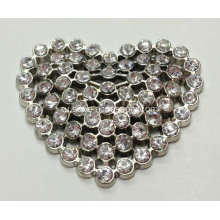 Heart-Shaped Rhinestone Alloy Lady Пряжка для обуви