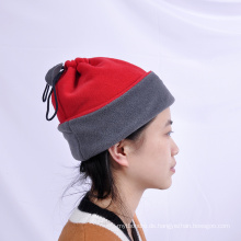 Top quality 100% polyester double color fleece beanies hats
