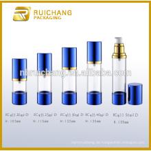 20ml / 25ml / 30ml / 40ml / 50ml Airless-Flasche, Aluminium-Kosmetik-Airless-Flasche