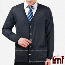 Loose Type Jacket Cardigan For Middle-aged Men Button Front Cardigan