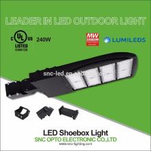 UL CUL Listed High Lumen Luz de área de 240 vatios LED con montaje de ajustador ajustable