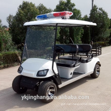 4 passengers cop golf cart with cargo box powered by electric for sale