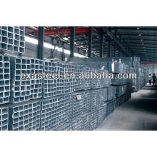 Tubo de aço retangular tubular preto ASTM A500