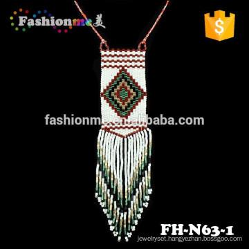 Fashionme seed bead wintage hawaiian grow necklace