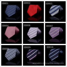 T02 Silk Polyester Woven Smooth Tie Classic Man's Purple Blue Stripe Business Wedding Ties For Men Party Fashion Casual Necktie