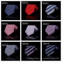 Т02 Шелковый полиэстер сплетенные гладкий классический человека галстук фиолетовый синий в полоску бизнес свадьба связей для мужчин мода ну вечеринку свободного покроя галстук