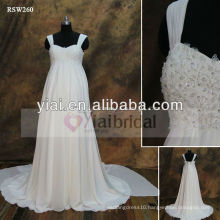 RSW260 Empire Waist Chiffon Maternity Beach Wedding Dresses