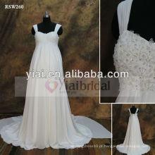 RSW260 Empire Waist Chiffon Maternidade Vestidos de casamento de praia