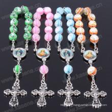 New Design 8mm Mixed Colour Resin Beads Religious Bracelet