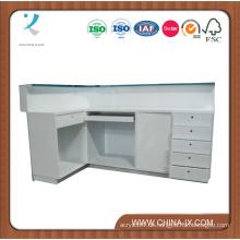 Holz und Glas Kassierer Desk oder Checkout Desk