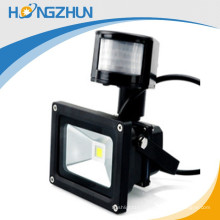 Lumière d'inondation LED haute lumière de 10 pouces avec lampe led capteur pour la maison