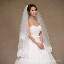 Nagelneue kurze Hochzeits-Brautschleier mit Sequins