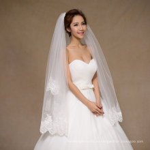 Новое короткое свадебное фата с блестками