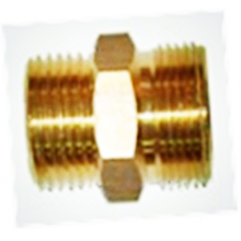 L.p.Nipple 40bar, G3/4M-G1/2M, Brass