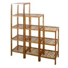 Bamboo display shelf flower stand shoe rack