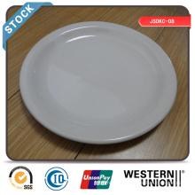 Assiette de repas 9 pouces bon marché (bord étroit) en stock