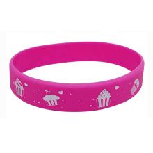 Custom Silicone Fluorescence Wristband Luminous Bracelet